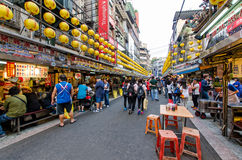 Keelung Miaokou night market,Taiwan Stock Images