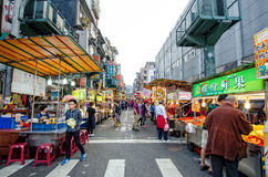 Keelung Miaokou night market,Taiwan Stock Photos