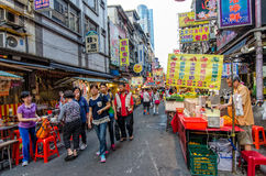 Keelung Miaokou night market,Taiwan Stock Photography