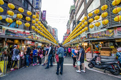 Keelung Miaokou night market,Taiwan Royalty Free Stock Photography