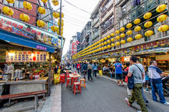 Keelung Miaokou night market,Taiwan Royalty Free Stock Image