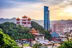 Keelung, Taiwan Skyline Royalty Free Stock Images