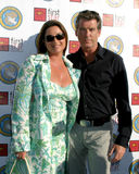 Keely Shaye Smith,Keely Shaye-Smith,Pierce Brosnan Stock Photography