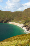 Keem Bay. The clear, blue watered bay of Keem Bay in Ireland on the Achill Island Royalty Free Stock Photography