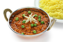 Keema curry , indian food Royalty Free Stock Photo