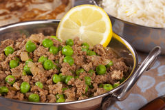 Keema Matar Indian Curry Stock Photo