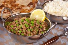 Keema Matar indisk curry Royaltyfri Bild