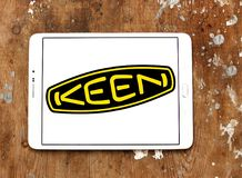 Keen shoe company logo. Logo of Keen shoe company on samsung tablet. KEEN is an American footwear and accessories manufacturing company based in Portland, Oregon royalty free stock images