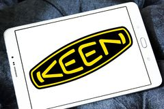 Keen shoe company logo. Logo of Keen shoe company on samsung tablet. KEEN is an American footwear and accessories manufacturing company based in Portland, Oregon royalty free stock photos
