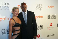 Keenan Ivory Wayans and Brittany Daniel #3. Keenan Ivory Wayans and Brittany Daniel attend the 2010 BET After Party at Mr. Chow's in Beverly Hills, California royalty free stock images