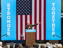 Keene, New Hampshire - OCTOBER 17, 2016: Former U.S. President Bill Clinton speaks on behalf of his wife Democratic presidential n Stock Photos