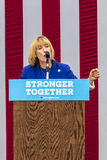 Keene, New Hampshire - OCTOBER 17, 2016: NH Gov., Senate candidate Maggie Hassan speaks on behalf of his wife Democratic president. Ial nominee Hillary Clinton Stock Photos