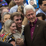 Keene, NH - OCTOBER 17, 2016: Former U.S. President Bill Clinton campaigns on behalf of his wife Democratic presidential nominee H. Illary Clinton during a royalty free stock photography