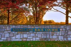 Keeneland Race Course. Lexington, Kentucky, USA - Oct. 17, 2016: Keeneland is a premier thoroughbred horse racing and sales facility in Lexington KY stock photo