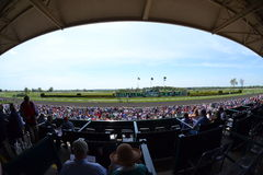 Keeneland Race Track fisheye Stock Photography