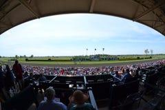Keeneland Race Track fisheye. Keeneland horse race track in Lexington, Kentucky fisheye stock photography