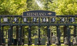Keeneland Race Track Starting Gate In Lexington Kentucky Royalty Free Stock Image