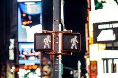 Keep走的纽约交通标志 免版税库存图片