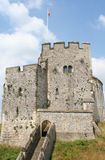 The keep. Arundel castle, uk keep in summer sun Stock Photos