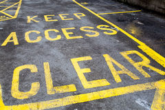 Keep Access Clear Stock Photography