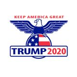 Keep America Great Trump 2020 Text For US Election With American Eagle Stock Photos