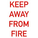 Keep away from fire label for clothing royalty free illustration