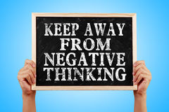 Keep Away From Negative Thinking Royalty Free Stock Image