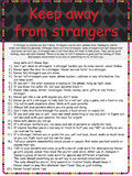 Keep away from strangers poster Royalty Free Stock Photos
