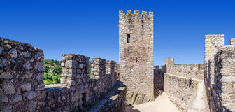 Keep and bailey of the Templar Castle of Almourol. Stock Photography