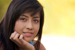 Keep the beauty. A beautiful young hispanic teenage girl stock photo