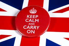 Free Keep Calm And Carry On Stock Photo - 165059660