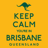 `Keep Calm and ...` Australian Poster. Royalty Free Stock Photo