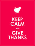 Keep calm background. Keep calm and give thanks background Royalty Free Stock Photography