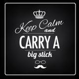 Keep Calm big stick saying Royalty Free Stock Photos