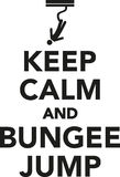 Keep calm and bungee jump Stock Image