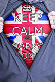 Keep Calm Businessman Royalty Free Stock Photo
