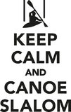 Keep calm and canoe slalom Royalty Free Stock Images