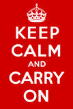 Keep calm and carry on Stock Photos