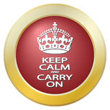 Keep Calm And Carry On Icon Stock Images