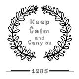 KEEP CALM and CARRY ON Illustration Royalty Free Stock Photography