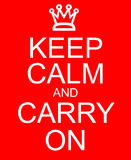 Keep Calm and Carry On Stock Images