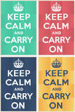 Keep calm and carry on mockup stock illustration