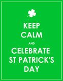 Keep calm and celebrate St. Patrick's day - vector background Stock Photos