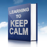 Keep calm concept. Royalty Free Stock Images
