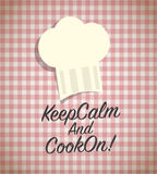 Keep calm and cook on. Abstract background Royalty Free Stock Images