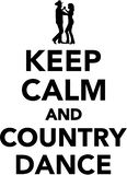 Keep calm and country dance. Sports vector Stock Photo