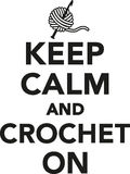Keep calm and crochet on Stock Photo