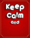 Keep Calm Design Royalty Free Stock Images