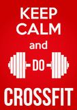 Keep Calm and do crossfit Royalty Free Stock Photos