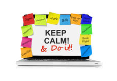 Keep calm and do it Royalty Free Stock Photography
